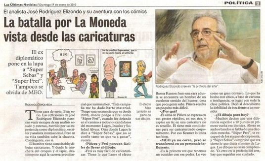 Caricaturas de la batalla por La Moneda