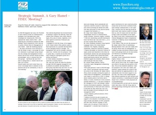 Estrategias de Comunicación: ¿Una cumbre estratégica Hamel-FISEC?