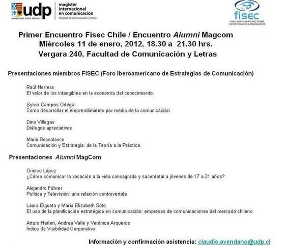 Primer Encuentro FISEC-Chile/ Alumni MagCom