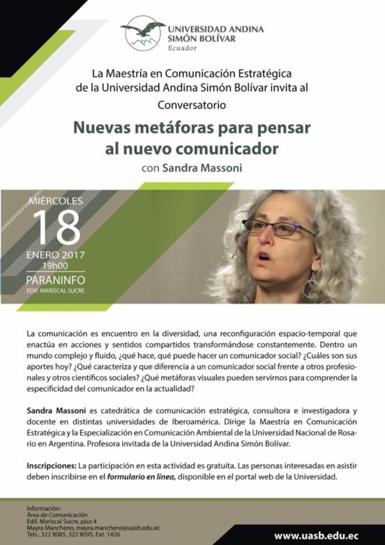"""Conversatorio """"Nuevas metáforas para pensar al nuevo comunicador"""""""