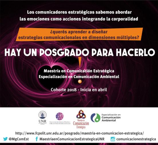 Maestría en Comunicación Estratégica - Especialización en Comunicación Ambiental