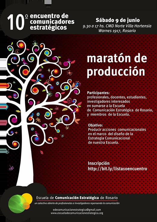 Maratón de producción para comunicadores estratégicos