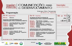 Seminario Internacional de Comunicación y Desarrolo en Brasil.