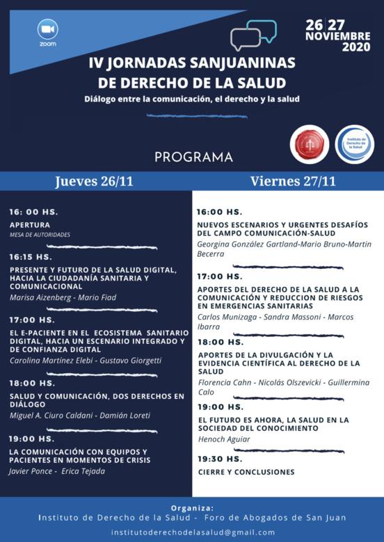 Panel Diálogo entre comunicación, derecho y salud