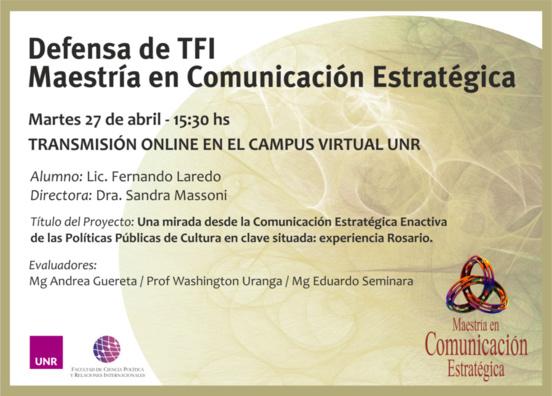 Comunicación estratégica enactiva y políticas culturales.