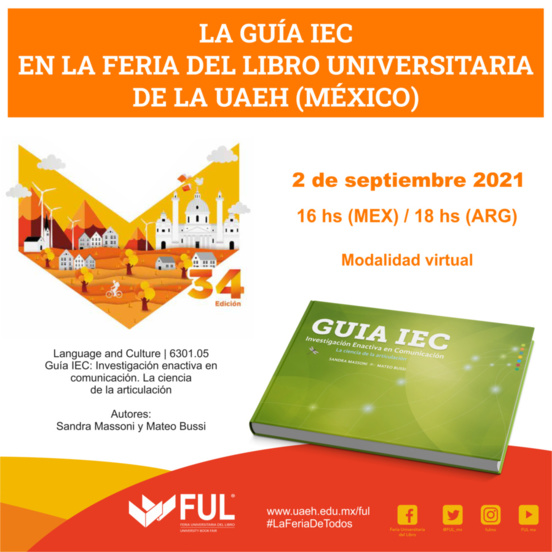 En la Feria del Libro Universitaria de la Universidad del Estado de Hidalgo (México)