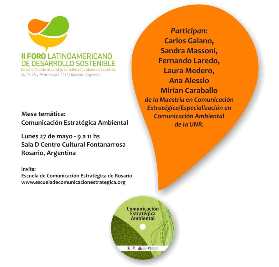 Mesa temática: Comunicación estratégica ambiental