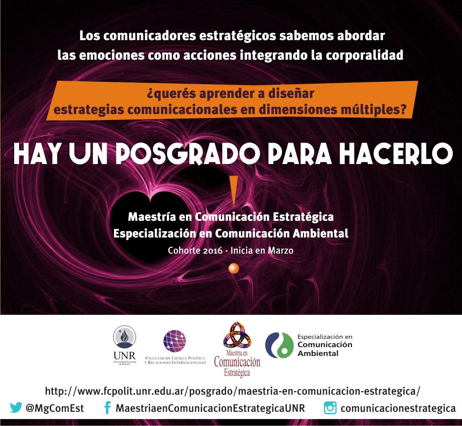 Mañana vence la inscripción a la Maestría en Comunicación Estratégica de la UNR