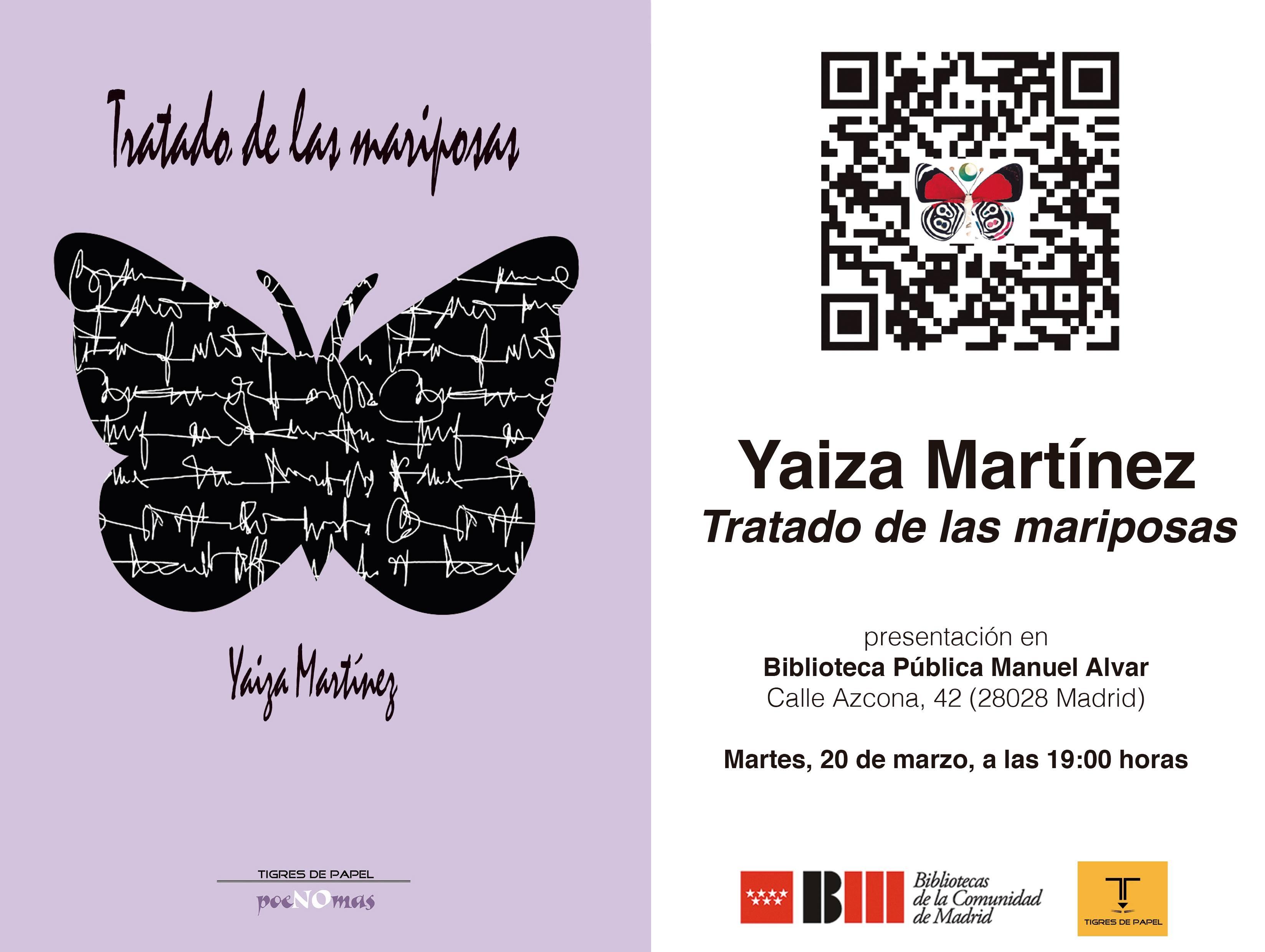 """Presentación del poemario """"Tratado de las mariposas"""", de Yaiza Martínez, en Madrid"""