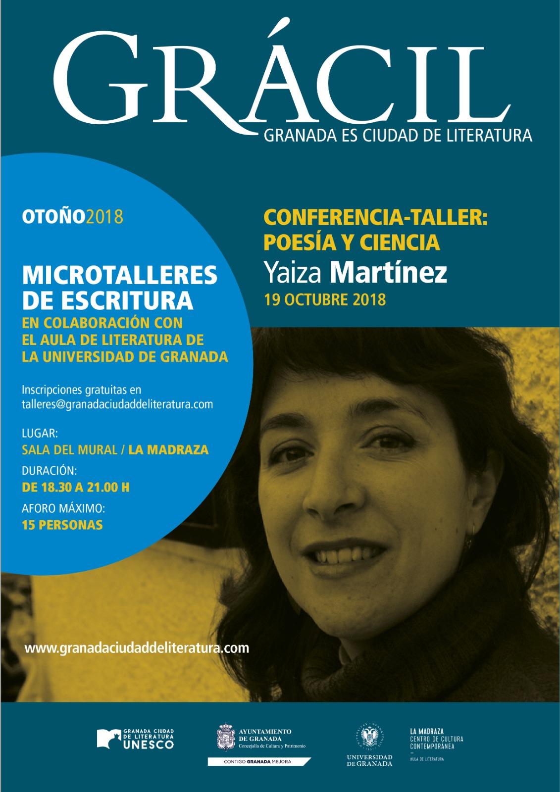 Yaiza Martínez, microtaller de poesía y ciencia en Granada