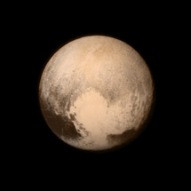 El 'corazón' de Plutón, abajo a la derecha. Fuente: NASA/APL/SwRI.