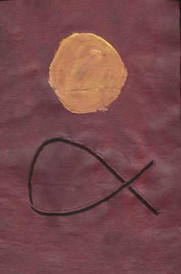 Una de las pinturas realizadas por el artista Gabriel Viñals a partir de los poemas de 'OLUM'. Fuente: Ejemplar Único.