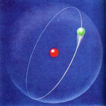 Ilustración del átomo de hidrógeno. Imagen: Ludie Cochrane. Fuente: UCM.