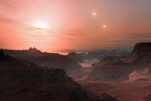 Recreación artística de un exoplaneta. Credit: ESO / L. Calçada