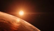Ilustración del sistema planetario de TRAPPIST-1. Foto: ESO/M. Kornmesser