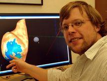 Interpretación de la actividad de la corteza visual del cerebro reflejada en la pantalla del ordenador. Fuente: Universidad de Oregón.