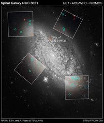 Foto del Telescopio Espacial Hubble de la galaxia espiral NGC 3021. Fuente: HUBBLESITE.