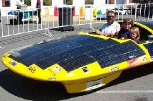 Coche movido con energía solar