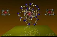 Agrupación de átomos que imita al átomo de manganeso. Fuente: VCU