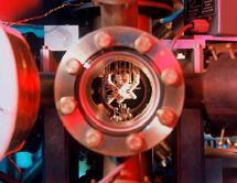 """""""Trampa"""" de iones utilizada en la investigación. Foto: C. Lackner / SINC."""