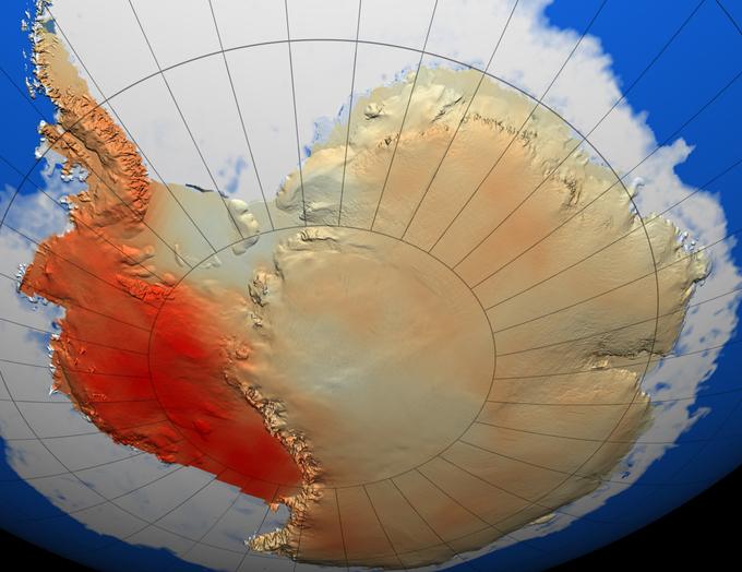 El calentamiento de la Antártida es mayor de lo que se esperaba. Foto: SINC/NASA