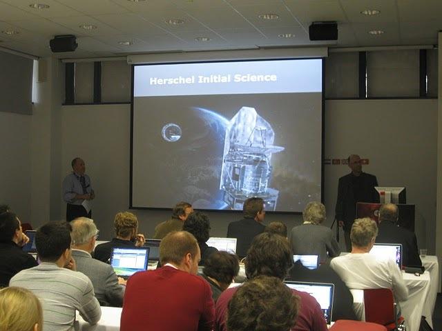 Presentación de resultados en la Facultad de Informática de la UPM. Foto: Herschel.