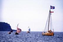 Recreación histórica moderna de un desembarco vikingo. Foto: Joyce Hill.