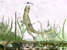 Cocodrilo del Cretácico. Ilustración Mark Witton
