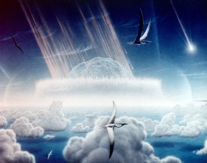 Recreación del meteorito que acabó con los dinosaurios. Chicxulub impact site. NASA/JPL-Caltech