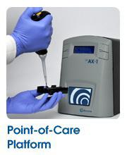 Laboratorio portátil de análisis de sangre AX-1. Fuente: Avacta.