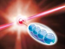 Un ión interactúa con el sistema y, al mismo tiempo, establece contacto controlado con el entorno. Fuente: IQOQI.