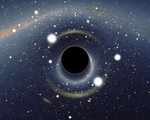 Recreación de un agujero negro. Fuente: Wikimedia Commons.