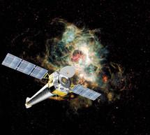 Observatorio de rayos-X Chandra. Fuente: Wikimedia Commons.