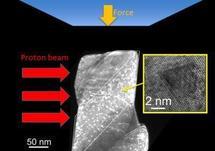 El estudio a escala nanométrica de los materiales nucleares permitirá comprender el funcionamiento de los componentes empleados en centrales en actividad. Imagen: Minor et al., Lawrence Berkeley National Laboratory.