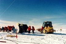 Preparando los kilómetros de cable antes de empezar la perforación.