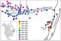 Mapa de desarrollo de la región de  Charlevoix Saguenay Lac-Saint-Jean . Fuente: Science/AAAS