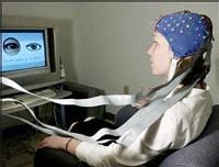 Momento del experimento. EEG Laboratory.