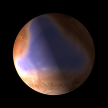Antiguo océano en el norte de Marte. Imagen: ESA, C. Carreau.
