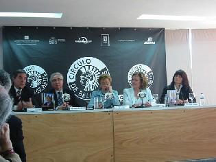 Momento de la presentación del libro en Madrid (2006).