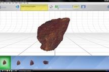 Primer mapa laser tridimensional de un impacto meteorítico. Fuente: UPM / CSIC.