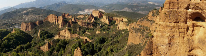 Las Médulas, en El Bierzo, Leon, son una muestra de la transformacion del paisaje que produjeron los asentamientos romanos, en este caso las minas de oro / Xiomara / CSIC.
