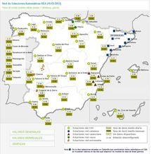 Tasa de dosis Damma media diaria y mensual (µSv/h). CSN.(Click en la imagen para ampliar información)