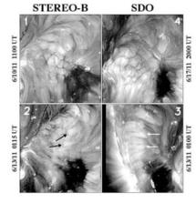 Imagenes de las células coronales. NASA/STEREO/SDO/NRL