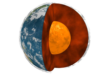 Núcleo de la Tierra. Fuente: NASA.