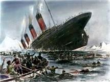 Willy Stöwer: Untergang der Titanic (El hundimiento del Titanic). Fuente: Wikimedia Commons.