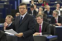 José Manuel Barroso y László Andor, comisario europeo de Empleo. Foto: UE