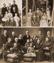 Familias finlandesas del album de Virpi Lummaa. Fuente: Human Life History Project.