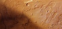 Límite de Acidalia Planitia junto a Tempe Terra. Imagen: ESA.