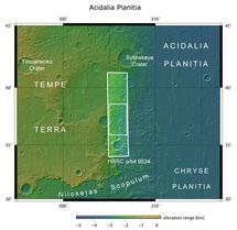 Entorno de Acidalia Planitia. Imagen: ESA.