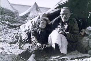 Imagen de la Nakba (catástrofe) palestina en 1948. Hanini.
